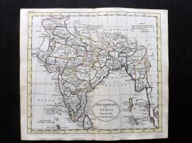 Guthrie 1788 Antique HCol Map. Hindostan, or India from the best Authorities
